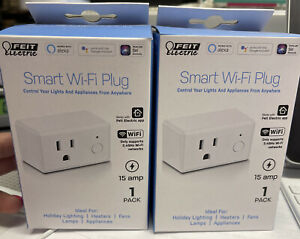 (Lot of 2) Feit Electric Wifi Smart Plug works with Alexa, Google Home and Siri
