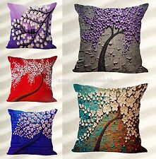 wholesale 5pcs tree of life 3D flower cushion home decoration cover throw pillow