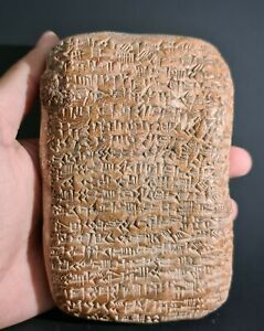 CIRCA NEAR EASTERN CUNEIFORM BIG CLAY TABLET WITH EARLY FORM OF WRITING