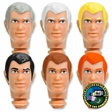 Complete Set of 6 Custom Peter 8 inch Roto Molded Heads for Mego figures
