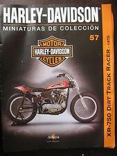 FASCICULE 57  MOTO COLECCION HARLEY DAVIDSON XR 750 DIRT TRACK RACER 1975