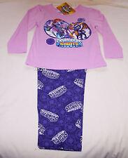 Skylanders Giants Girls Ninjini Spyro Pink Cotton Flannel Pyjama Set Size 6 New
