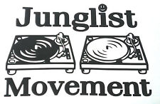 Junglist Movement Sticker Decal  Drum and Bass Jungle Rave Ragga Ganga DJ DUB