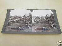 WW1 STEREOVIEW - HALT OF AN AMMUNITION COLOMN EN ROUTE TO FRONT - WORLD WAR ONE