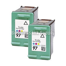 2 TriColor REMANUFACTURED HP 97 ink cartridge HP97 Officejet 6200 6210