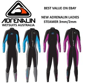 NEW Adrenalin ENDURO-X Ladies Steamer Wetsuit Long arm & Leg 3/2mm