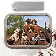Boxer Dog Puppy 2oz Tobacco Tin Baccy Pouch Storage Personalised Gift ST322
