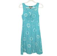 Tommy Bahama Dress Womens Size XXS Teal Sleeveless Beach