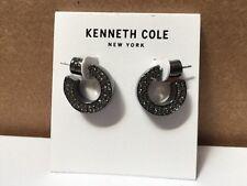 $30 Kenneth Cole® Pave Hematite Huggie Hoop Earrings #418