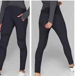 Athleta Highliner Hybrid Summiter Tights Pants Black Women's Size 4 Tall