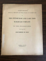 1915 37th Annual Report Pittsburgh and Lake Erie Railroad Company Map