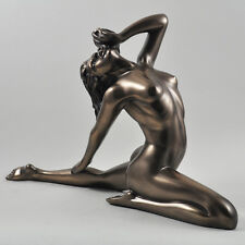 Grand nu féminin art déco pose Froid Cast Bronze Sculpture/figurine. NEUF.