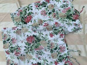 2 IKEA EMMIE BLOM Roses Pillowcases Standard Sham Floral Shabby