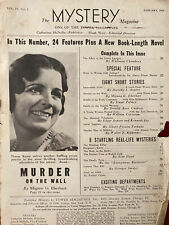 The Mystery Magazine January 1934 Eberhart Chambers - NO COVER Tower Murder Pulp