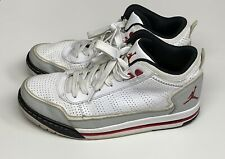 Air Jordans Size 10. White With Red And Grey Trim
