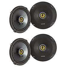 Kicker CS Series CSC65 6.5 Inch Car Audio Speaker with Woofers, Yellow (4 Pack)