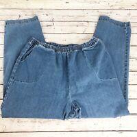 Croft & Barrow Elastic Waist Pull-on Stretch Jeans - Size 2X Short