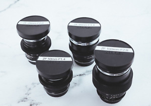 Carl Zeiss Distagon ZF CinePrime Lens Kit- EF & Nikon Mount- DeClicked- 4 lenses