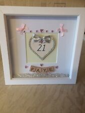 Personalised 21st/18th Birthday Scrabble Box Frame Picture
