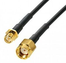5m transmedia wlan antennen kabel reversed-sma rp-sma slim verlängerung schwarz