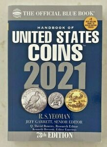 2021 Whitman Blue Book Handbook of United States Coins 78th Edition RS Yeoman