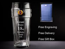 Personalised Fosters Pint Glass Birthday Gift 18th,21st 30th 40th 50th 60th 70th