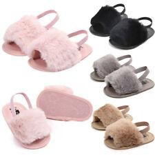 8090081ede29 Kids Newborn Baby Boy Girls Letter Solid Flock Soft Sandals Slipper Casual  Shoes