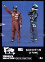Verlinden 1:24 Racing Drivers 2 Resin Figures Kit #1112