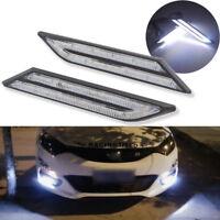 2x DRL Fog Lamp Daylight Blade Shape White FOR Car HID LED Daytime Running Light