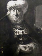 XVIII c. A JEW RABBI- Rembrandt / Strange, Mezzotinto, giudaismo