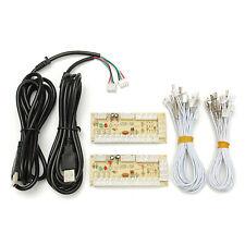 Zero Delay USB Arcade Encoder PC To 2pin Joystick + Happ Button 4.8mm Wires