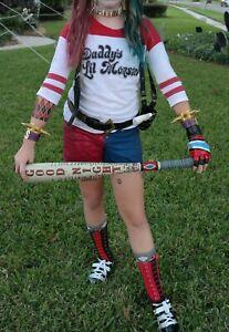 Harley Quinn Suicide Squad Movie Halloween Shirt Shorts Bat Gun Adidas 8 Cosplay