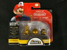 Nintendo Mario Bros. 2 Gold Series 1-3 Figure Set Mario Super Mushroom Goomba