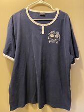 Vintage Polo Ralph Lauren Lawn Sports Tennis T Shirt Mens 2Xl Blue Ringer