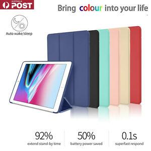 Silicon Smart iPad Cover Case Stand For iPad 8th 7th 6th 5th Gen Air 2 4 Mini 5