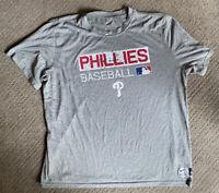 Nike Phillies Dri Fit Mens T Shirt Size 2XL Gray MLB Harper Nola