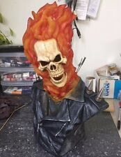 1/2 Ghost Rider Model Bust Figure Unpainted Unassembled Good Resin Kit 37cm Tall