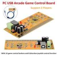 Double Players Arcade JAMMA to PC USB PS/3 Converter Controller boards for MAME