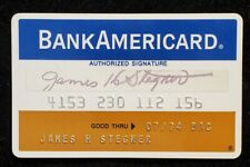 BankAmericard Pawtucket Trust Co credit card exp 1974♡free ship♡cc1246
