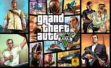 GTA 5 FIVE GRAND THEFT AUTO A3 GAME POSTER PRINT GTA5 -BUY 2 GET 3RD FREE