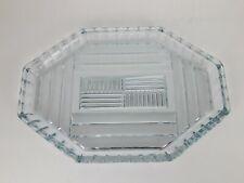 Vintage Art Deco Fancy Glass Vanity Tray Dresser Perfume Bottle Tray Excellent