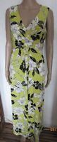 NEW GREEN FLORAL MAXI DRESS SIZE 14