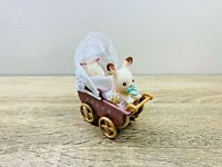 Sylvanian Families Chocolate Rabbit Twin Babies Kabe Breeze Pram Baby Carriage