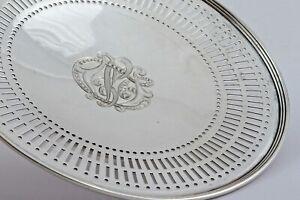 Schale Durchbruch runder Stand Anreichschale Antik Gorham USA 925er Silber 1253