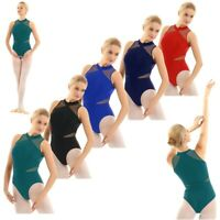 Women's Leotard Ballet Dance Turtleneck Dress Yoga Gymnastics Bodysuit Dancewear
