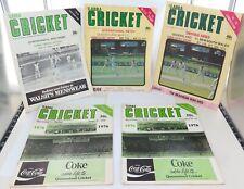 .1970s SCARE LOT ! 5 x 'GABBA CRICKET PROGRAMMES SHEFFIELD SHIELD & TOUR MATCHES