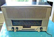 Antique Radio T.S.F. la Voix de son Maitre à remettre en état vintage s'allume