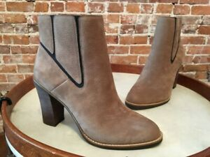 Lucky Brand Brindle Taupe Leather Maldeev Boho Ankle Boot 9 39 New