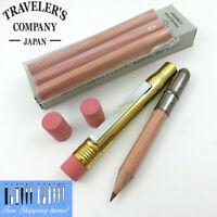 Traveler's company Brass Pencil + 3refill,2erasers Set Compactly MP MIDORI Japan