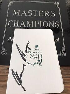 Gary Player Masters Champion Signed Scorecard
